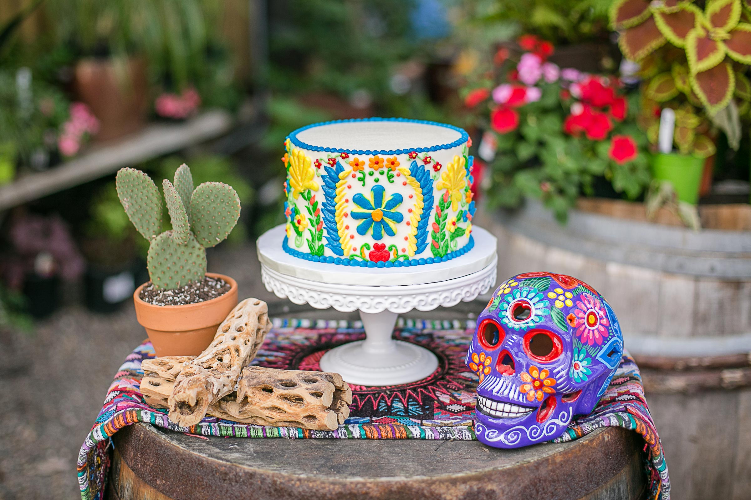 we started with a pretty simple idea a big bright joyful mexican bridal shower and incorporated all our own interpretations of that and came away with