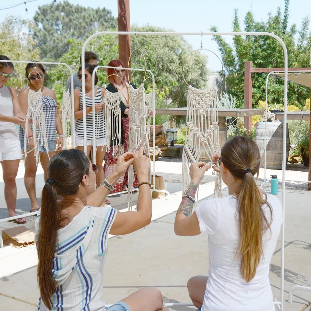Macrame Hoop Wall Hanging Workshop Barrels Amp Branches